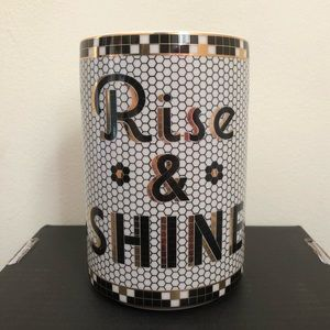 Anthropologie ✨Rise & Shine Canister✨ Bistro Tile